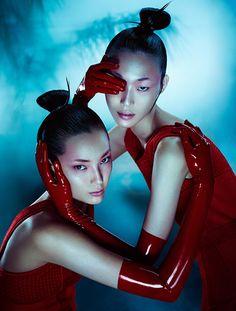 Tiana Tolstoi & Sora Choi by Txema Yeste for Antidote Magazine F/W 2015