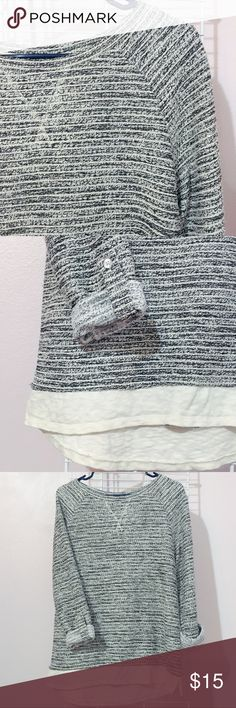 pretty crewneck sweater Super adorable sweater! Has a bit of sparkle in the stitching as well as a faux-undershirt. Love love love this sweater. Perfect for fall. 🍂 **brand for exposure Urban Outfitters Sweaters