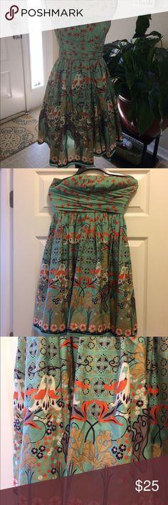 Dress Strapless Dress. Beautiful print. Price negotiable. Dresses Strapless