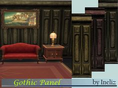 The Sims Resource: Gothic Panel by Ineliz • Sims 4 Downloads