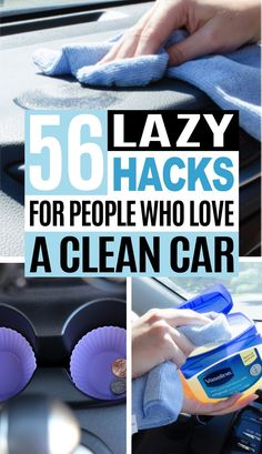 56 Car Cleaning Hacks I like clean car seats and I like clean car hacks in general. That's why I'm sharing these 56 car cleaning hacks to help you clean your car easily. Diy Car Cleaning, Deep Cleaning Tips, Toilet Cleaning, House Cleaning Tips, Diy Cleaning Products, Spring Cleaning, Borax Cleaning, Car Products, Bathroom Cleaning