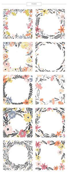 Floral mega-bundle: 1267 elements - Illustrations - 9