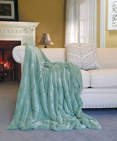 Love this Blue Faux Fur Throw by BNF Home Inc. on #zulily! #zulilyfinds