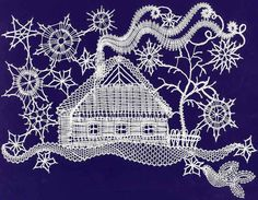 paličkování - Google Search Bobbin Lace Patterns, Weaving Patterns, Bobbin Lacemaking, Lace Heart, Lace Jewelry, Needle Lace, Lace Making, Antique Lace, Simple Art