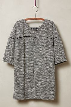 heather tweed pullover tunic #anthrofave