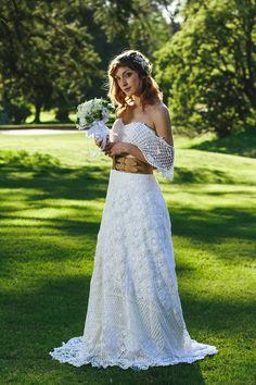 Vestido de crochet de algodón. Foto : Ale Prieto.