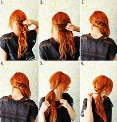 Yandan At Kuyruğu Saç modeli yapımı/yapılışı (Resimli Anlatım) 2012