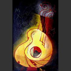 Guitarra de Victor Jara - Santiago Ibañez Design, Art Drawings, Drawings, Painting, Abstract Artwork, Art, Abstract, Poster