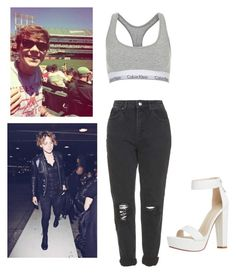 """ashton is 21 tomorrow someone hold me"" by xhannahwaldingx ❤ liked on Polyvore featuring Topshop"