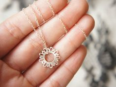 LINGERIE TINY CUTE Pendant - Sterling Silver - Hand Cut by Gemagenta - Black or White - Everyday Necklace, Delicate, Lace, Romantic, Sweet