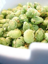 Crispy Edamame Recipe | Allrecipes.com This is a perfect snack sub for popcorn on movie night! I could even use our healthy popcorn toppers to experiment with the edamame!