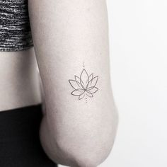 "10.8k Likes, 39 Comments - Little Tattoos (@little.tattoos) on Instagram: ""Minimalist #lotus by @rachainsworth · @lagrainetattoo Hampshire via @tattoofilter"""