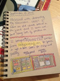 An Art Teacher's Journal. Magnetic border from Really Good Stuff.