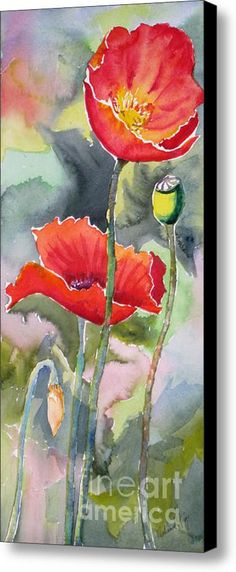 Poppies 3 Canvas Print / Canvas Art By Mohamed Hirji