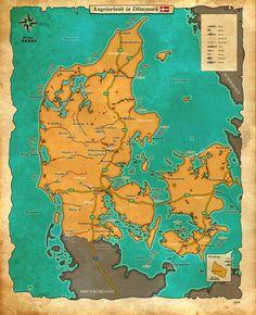 Catch calendar for Denmark: March Pike Fishing, Sea Fishing, Diagram, Map, Winter, Calendar, Trends, Denmark, Atlantic Salmon