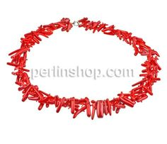 Korallen Halskette, Natürliche Koralle, Klumpen, rot, 11-16mm, verkauft per 18.5 Inch Strang - perlinshop.com