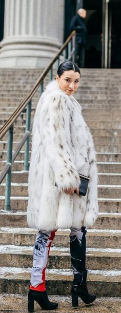 Winter Outfit Idea: Keep It Classic In a Midi Length Fur Coat: (http://www.racked.com/2014/12/31/7563039/2014-fashion-trends)