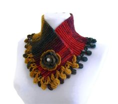knit collar fall fashion multicolor neckwarmers by likeknitting, $27.99
