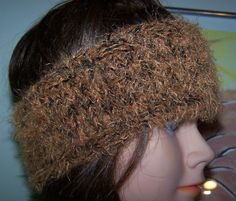 98aa60e627 Fuzzy Furry Ponytail Beanie Hat Hand Knit New Orange Black Headband OOAK  Tiger H #Handmade