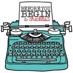 Before You Begin Blogging Checklist
