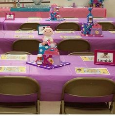Doc McStuffins Birthday Party Lambie and Stuffy Centerpieces