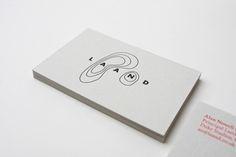 Business card for Alan Nowell's landscape architecture firm called Laand. ~Passport Design Bureau | #branding #logo