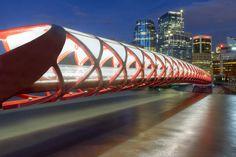 Peace Bridge at night