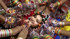Girls in Ahmadabad, India, rehearse a traditional Gujarati Garba dance in preparation for the Navratri, or festival of nine nights, which begins later this month.