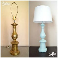 OOH! great idea! *digs through garage*..Thrift Store Lamp for the Living room
