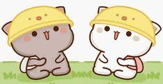 蜜桃猫 Cute Cartoon Pictures, Cute Love Pictures, Kawaii Drawings, Cute Drawings, Kittens Cutest, Cute Cats, Best Friends Shoot, Cute Cat Illustration, Chibi Cat