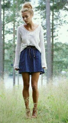 Street Style: Polkadots  #fashion #FashionOne