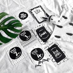 Monochrome Milestone Baby Cards