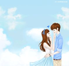 Kartun Animasi Korea Romantis Cium Kening