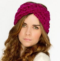 A classic crochet headband with a twist!! Criss-Cross Crochet Headband- free pattern from allfreecrochet.com