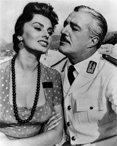 Vittorio De Sica and Sofia Loren