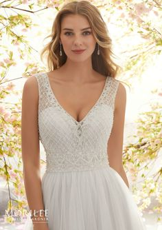 Wedding Dress out of Morilee by Madeline Gardner - Lola 6891 Lavender Wedding Dress, V Neck Wedding Dress, Luxury Wedding Dress, Perfect Wedding Dress, Bridal Wedding Dresses, Wedding Dress Styles, Mori Lee Bridal, Unusual Dresses, Net Gowns