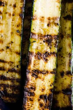 This easy Grilled Zucchini recipe requires just 5 ingredients (salt, pepper, and oil included!) and 20 minutes - for simple garlicky, lightly charred zucchini that can be made year-round. It's the perfect side dish for potlucks, BBQs, and grill season! Zucchini Dinner Recipes, Grilled Zucchini Recipes, Grilled Side Dishes, Potluck Side Dishes, Side Recipes, Snack Recipes, Perfect Grill, Lime And Basil, Summer Grilling Recipes