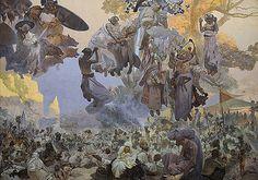 1912 Epopeya Eslava: Celebration of Svantovit. Alphonse Mucha