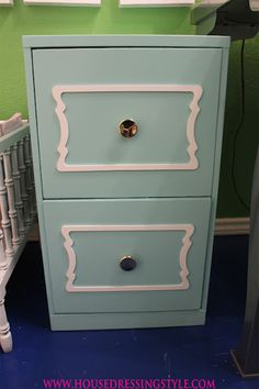 House Dressing Style - file cabinet makeover