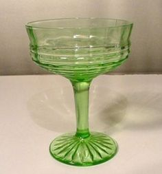 Circle depression glass