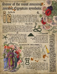 Nature Crafts Book of Shadows, Signs & Symbols: Ancient Egypt, Magical Spiritual Symbolism Ancient Egypt Fashion, Ancient Egypt Art, Ancient Book, Grimoire Book, Eclectic Witch, Wiccan Spells, Book Of Shadows, Spirituality, Symbols