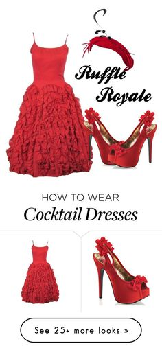 """Ruffle Royale"" by dita-west-grand on Polyvore featuring Bordello"