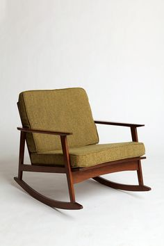 I think I'm stuck in a different era since I love this olive green on the mid-century rocker.