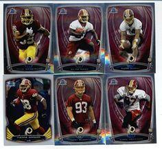 2014 Bowman Chrome Football Cards Washington Redskins Team Set (10 Cards) Including Robert Griffin III, Alfred Morris, DeSean Jackson,…