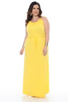 Vestido Longo Amarelo Plus Size - Chic e Elegante