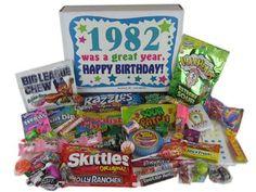 30th Birthday Gift Ideas Born in 1982 Retro Candy