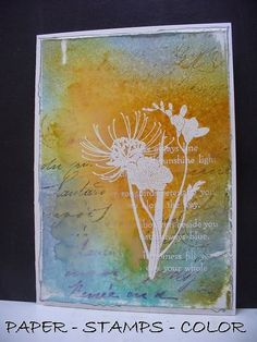 Magenta: Playing with stamps and color... / En jouant avec des étampes et des couleurs... by Ellie Knol - DT Magenta