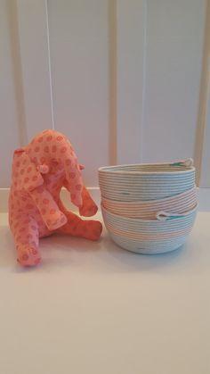 Small Orange Rope Basket by PrairieStMercantile on Etsy