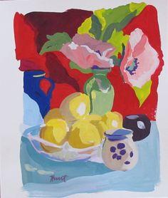 Gouache - Linda Hunt Fine Art Be Still, Still Life, Gouache Painting, Flower Art, Art Flowers, Fine Art Gallery, American Artists, Food Art, Artsy