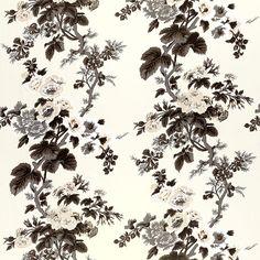 Fabric for curtain: Schumacher - PYNE HOLLYHOCK